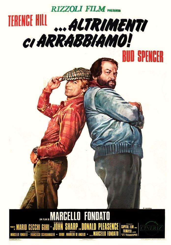Altrimenti ci arrabbiamo e Terence Hill compiono gli anni. Il primo 46 e e il secondo 81. Cult del 1974 girato assieme al compagno di avventure, Bud Spencer.