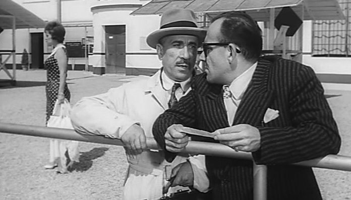 Arrangiatevi, film del 1959 diretto da Mauro Bolognini. Una commedia spassosa sulla nostalgia delle case di tolleranza, chiuse dalla Legge Merlin. Con Totò e Peppino De Filippo.