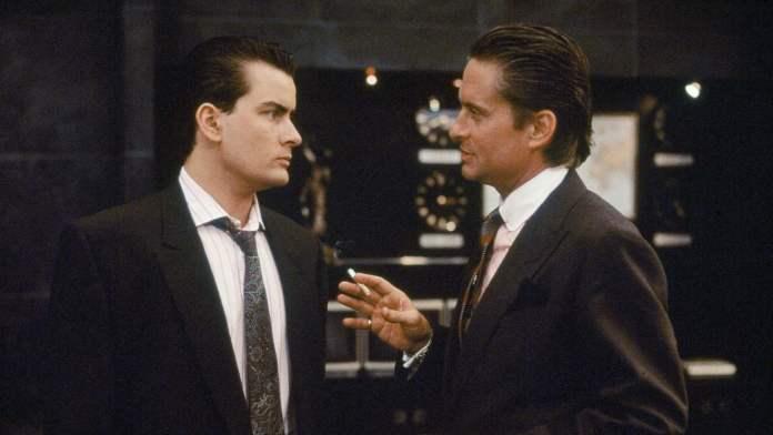 Wall Street, con Michael Douglas e Charlie Sheen.