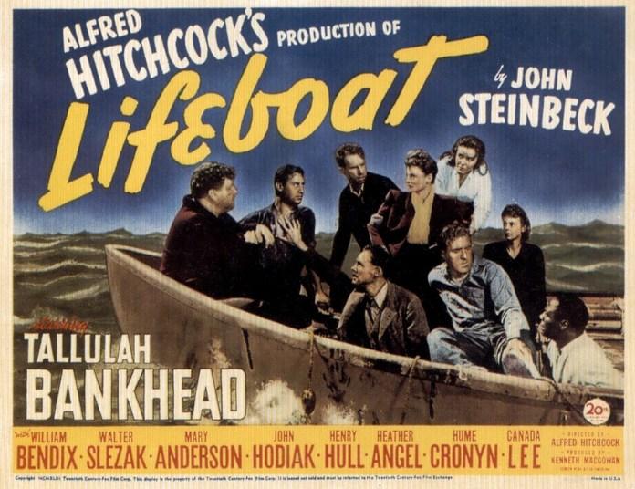 Prigionieri dell'oceano, anno 1944, regia di Alfred Hitchcock.