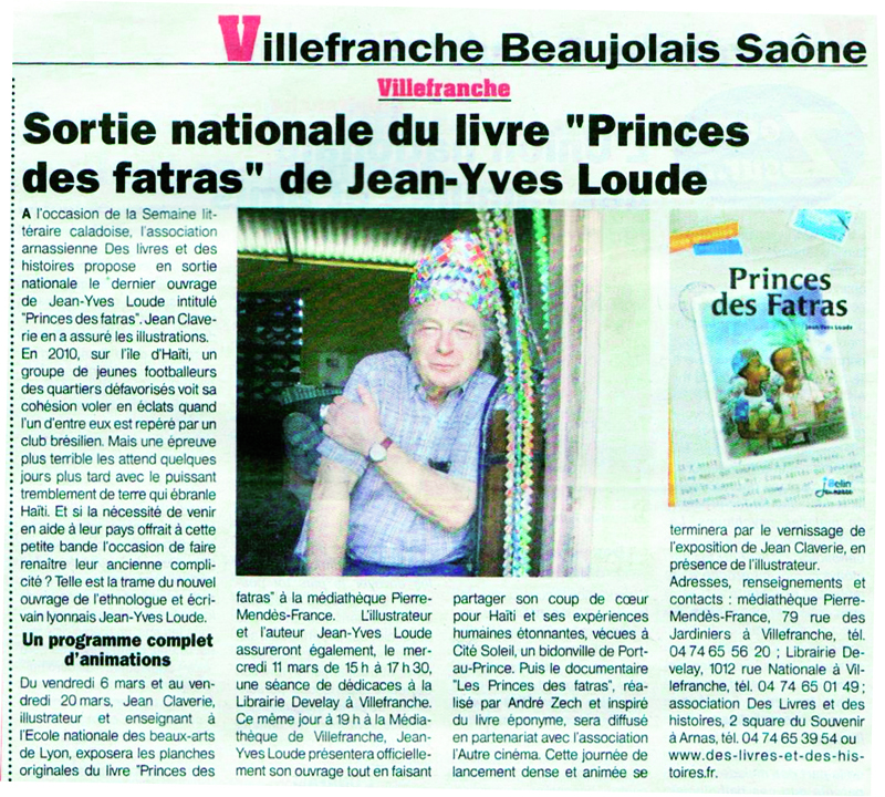 Princes des fatras Le Patriote Beaujolais