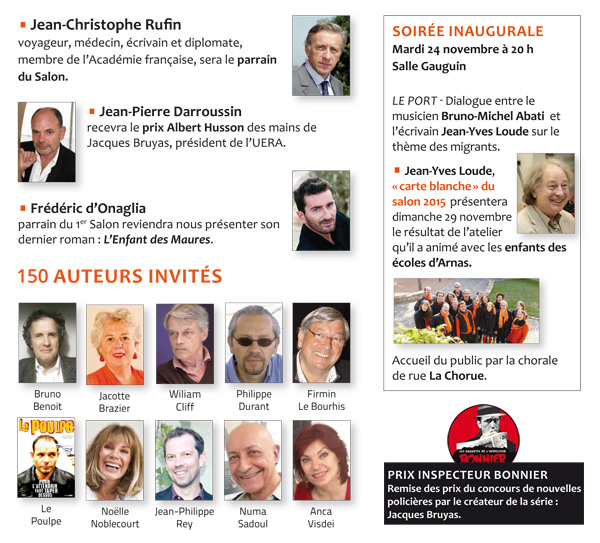 programme 2ème Salon du livre Arnas/Beaujolais