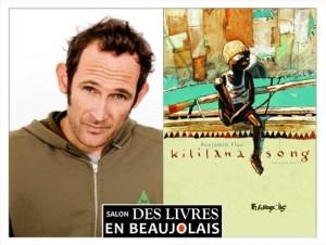 Benjamin Flao  invité du 3e salon Des Livres en Beaujolais