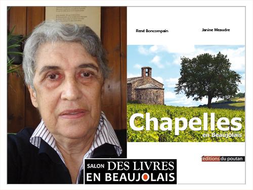 Janine Meaudre invitée du 3e salon Des Livres en Beaujolais