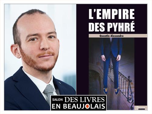 Quentin Alexandre invité du 3e salon Des Livres en Beaujolais