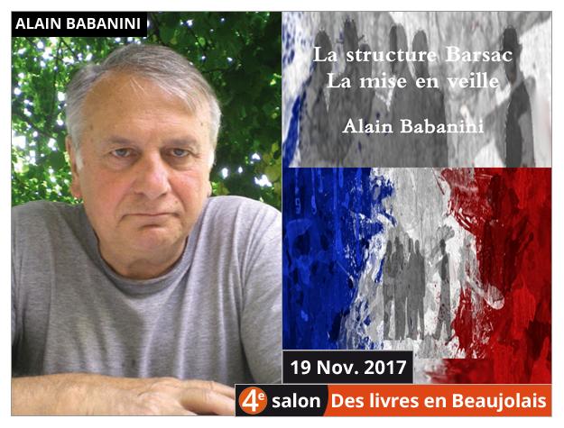 Alain Babanini invité du 4e salon Des Livres en Beaujolais