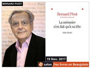 Bernard Pivot Président d'honneur du salon Des Livres en Beaujolais