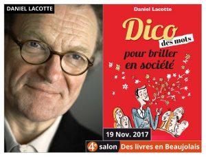Daniel Lacotte invité du 4e salon Des Livres en Beaujolais