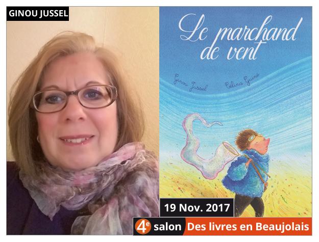 Ginou Jussel invitée du 4e salon Des Livres en Beaujolais