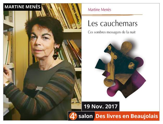 Martine Menès invitée du 4e salon Des Livres en Beaujolais