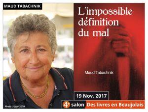 Maud Tabachnik, marraine du 4e salon Des Livres en Beaujolais