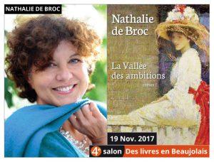 Nathalie de Broc invitée du 4e salon Des Livres en Beaujolais