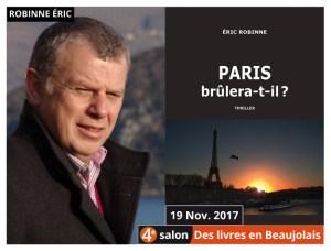 Éric Robinne invité du 4e salon Des Livres en Beaujolais
