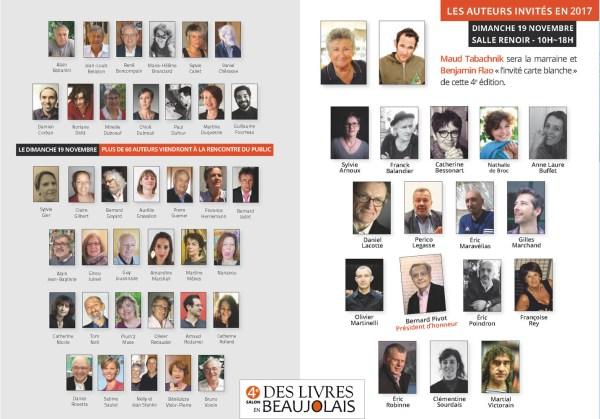 Programme du 4e salon Des Livres en Beaujolais - 2