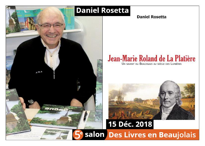 Daniel Rosetta invité d'honneur du 5e salon Des Livres en Beaujolais