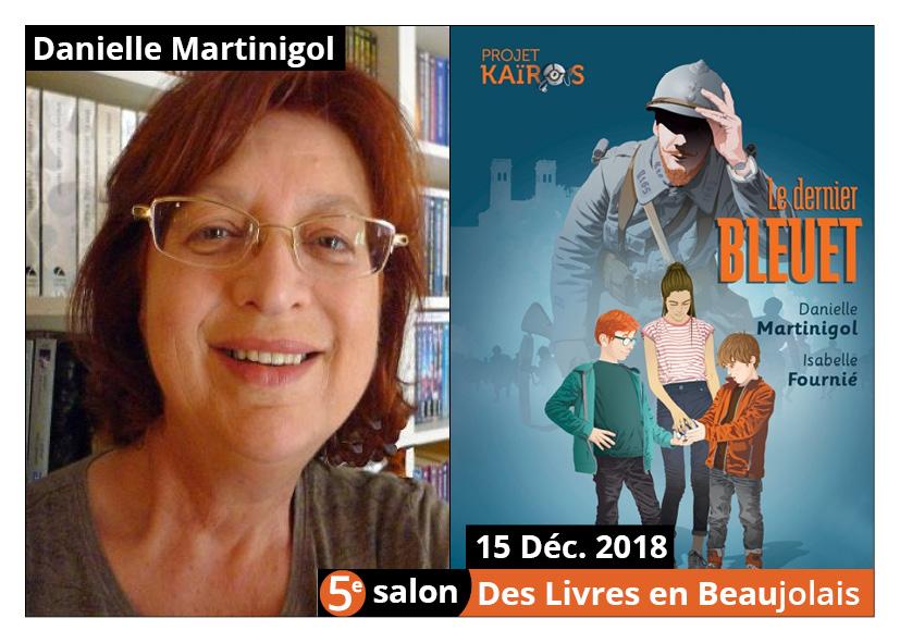 Danielle Martinigol invitée d'honneur du 5e salon Des Livres en Beaujolais
