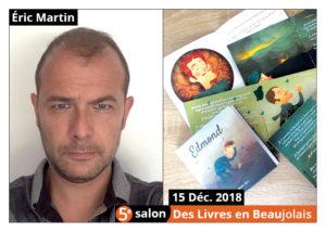 Éric Martin invité d'honneur du 5e salon Des Livres en Beaujolais