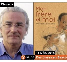Jean Claverie invité d'honneur du 5e salon Des Livres en Beaujolais 2018