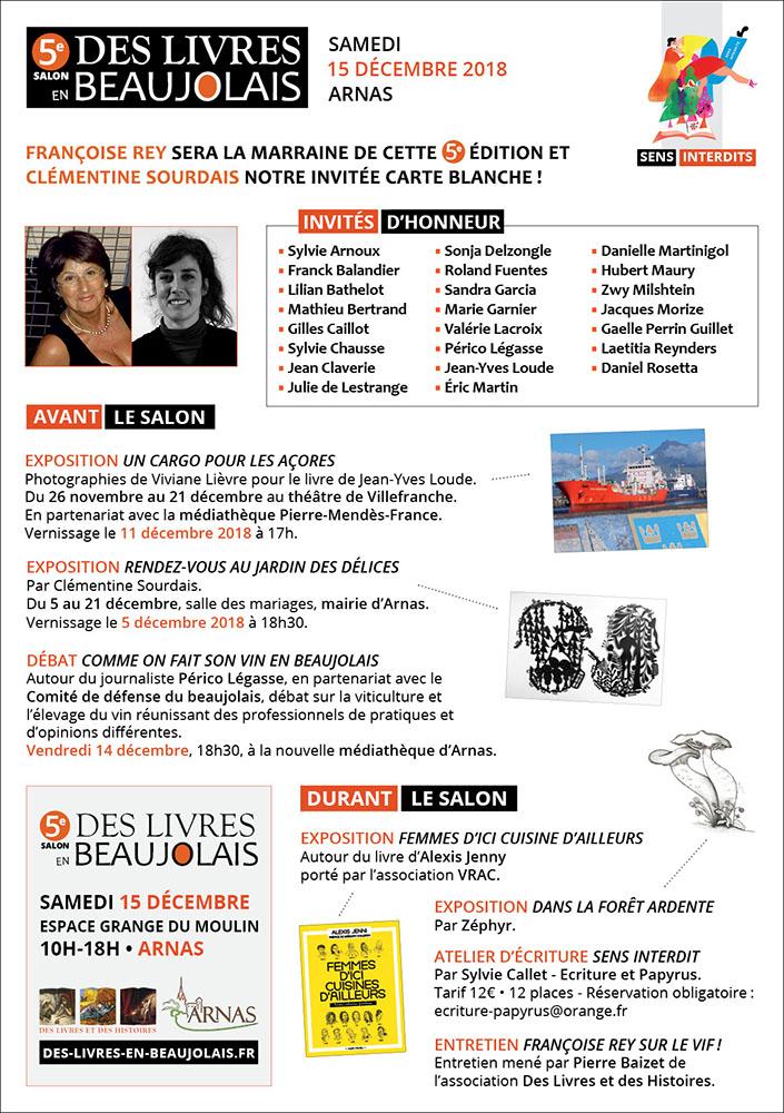 5e salon Des Livres en Beaujolais: le programme.