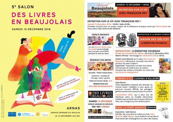Programme du 5e salon Des Livres en Beaujolais