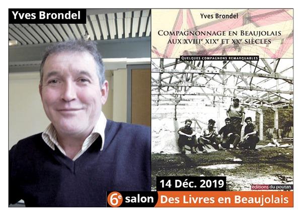 Yves Brondel - 6e Salon des Livres en Beaujolais 2019