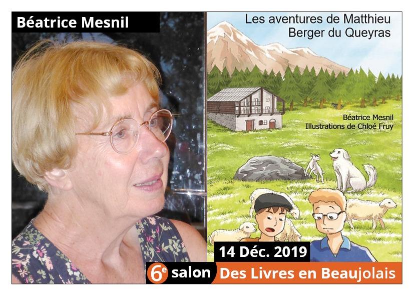 Béatrice Mesnil  - 6e Salon des Livres en Beaujolais 2019