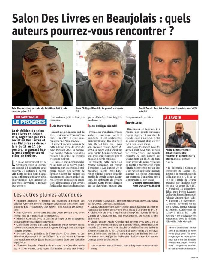Salon Des Livres en Beaujolais: quels auteurs pourrez-vous rencontrer? - Le Progrès
