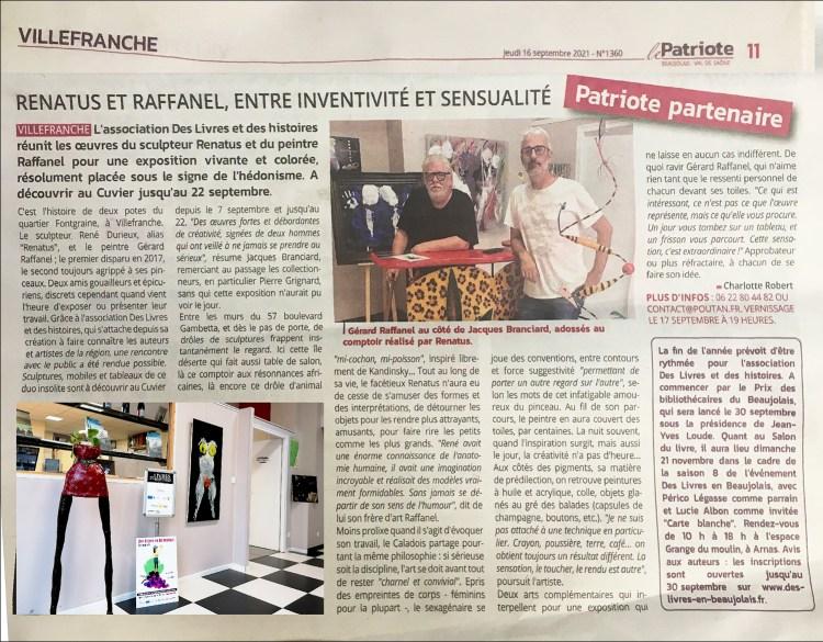 Raffanel et Renatus – Entre inventivité et sensualité - Le Patriote