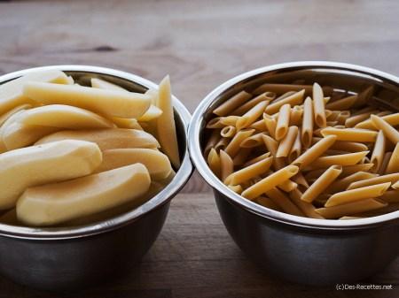 Penne pommes de terre