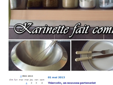 Karinette fait comme à la maison