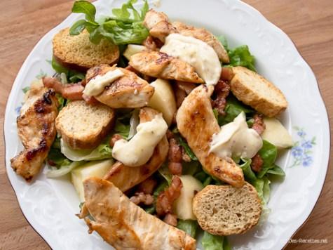 Sauce et salade façon César