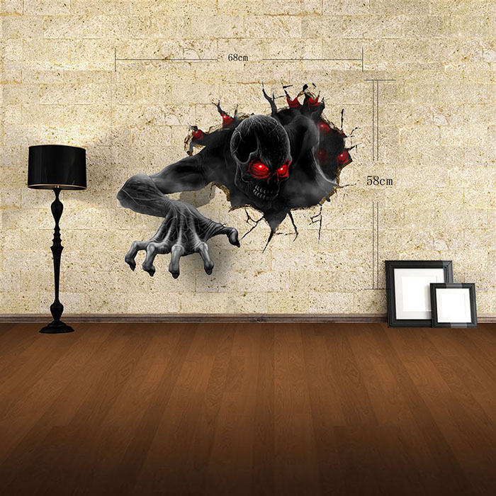Devil 3D Wall Art Stickers Home Appliances Decoration - $15.47 Free