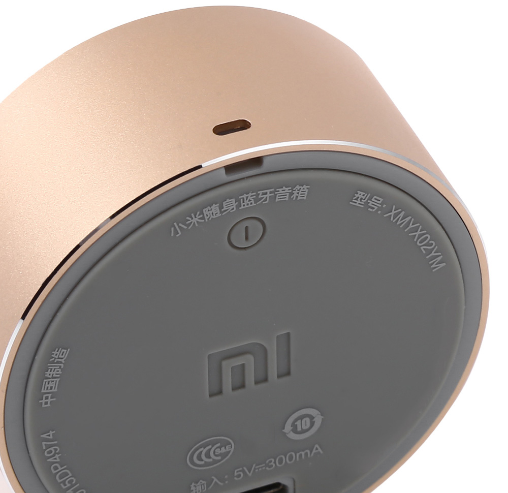 Original Xiaomi Mi Bluetooth 4.0 Speakers Wireless Audio Player Support Hands-free Phone Call- Champagne gold