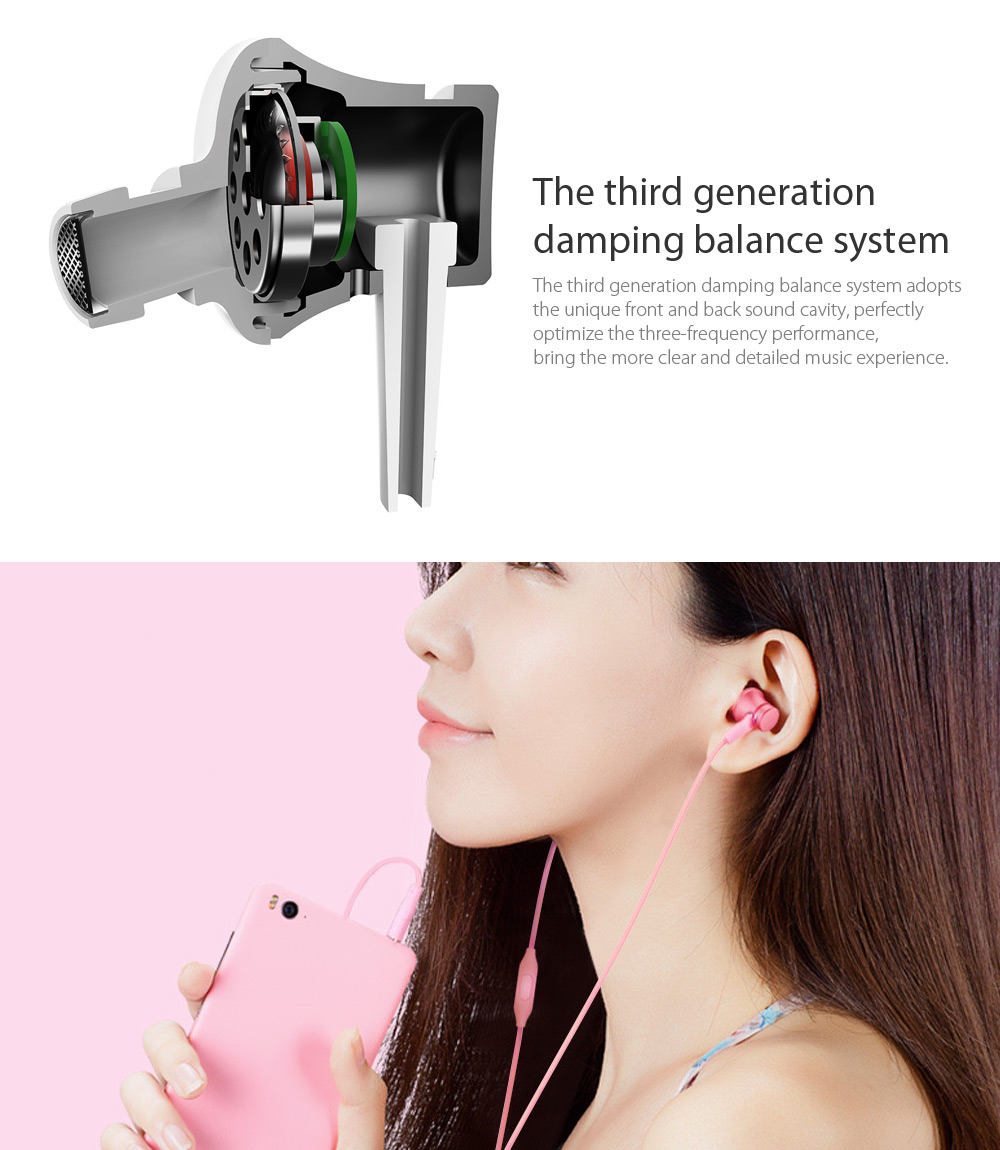 Original Xiaomi Piston In-ear Earphones with Mic Fresh Version