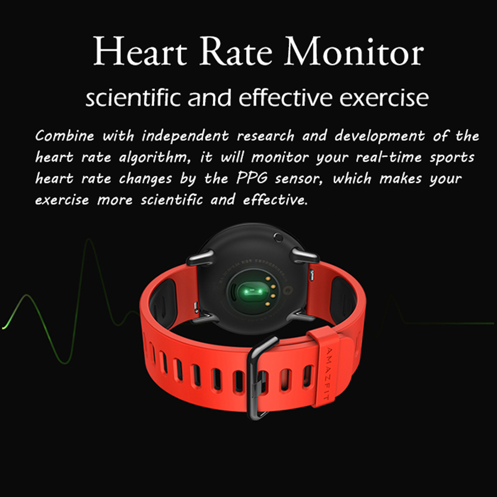 Original Xiaomi Huami AMAZFIT Bluetooth 4.0 Heart Rate Monitor Sports Smart Watch GPS Real-time Track Wristband