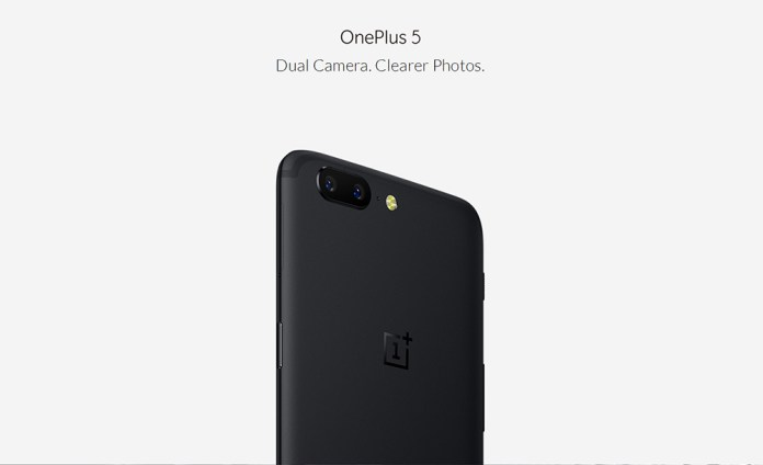 OnePlus 5 4G Phablet 5.5 inch OxygenOS Snapdragon 835 Octa Core 2.45GHz 6GB RAM 64GB ROM 16.0MP + 20.0MP Dual Cameras