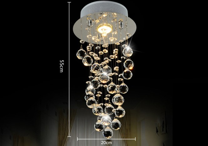 Lightmyself Crystal Pendants Led Chandelier Droplight