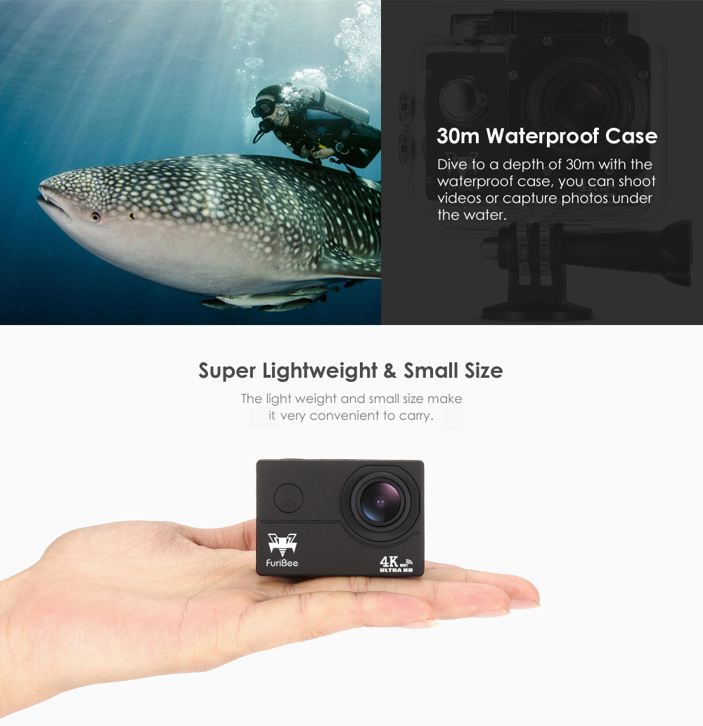 FuriBee F60 4K Action Camera
