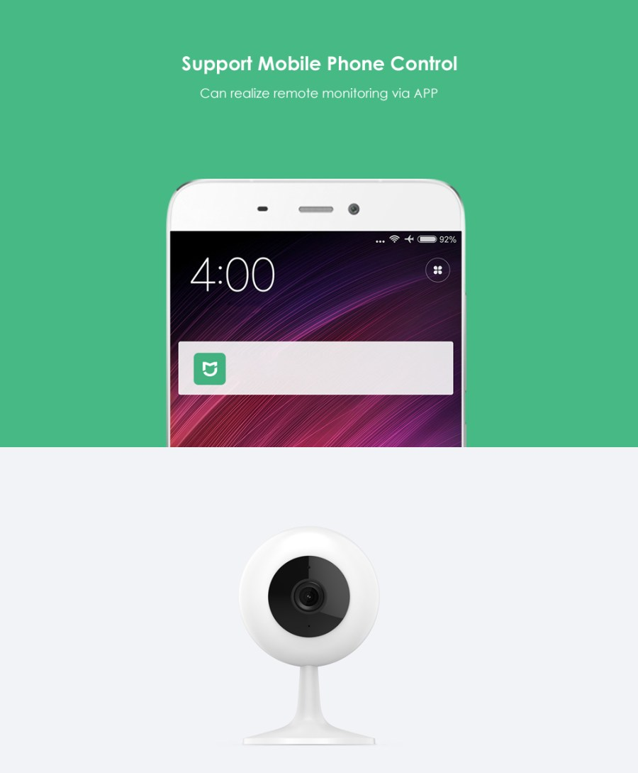 XIAOMI CHUANGMI  720P Smart Camera IR Remote Control / Wireless WiFi / Motion Detection