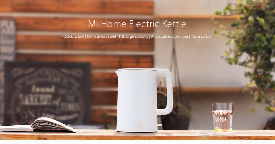 Xiaomi 1.5L Electric Water Kettle Auto Power-off Protection 304 Stainless Steel Inner Layer