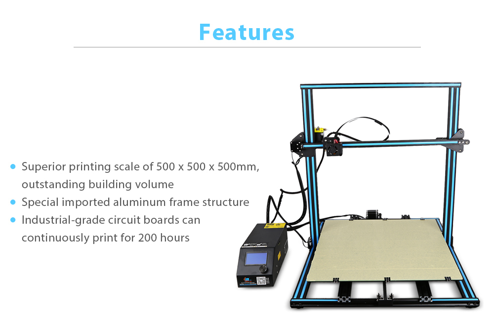 Creality3D CR - 10 500 x 500 x 500mm Version agrandie imprimante 3D Kit bricolage