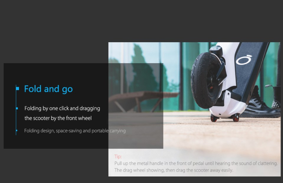 Xiaomi EUNI ES808 8 inch Tire 5.2Ah Battery Folding Electric Scooter