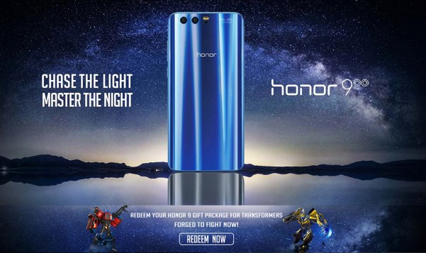 Huawei Honor 9 4G Smartphone 5.15 inch Android 7.0 Kirin 960 Octa Core 2.4GHz 4GB RAM 64GB ROM 12.0MP + 20.0MP Dual Rear Cameras Touch Sensor