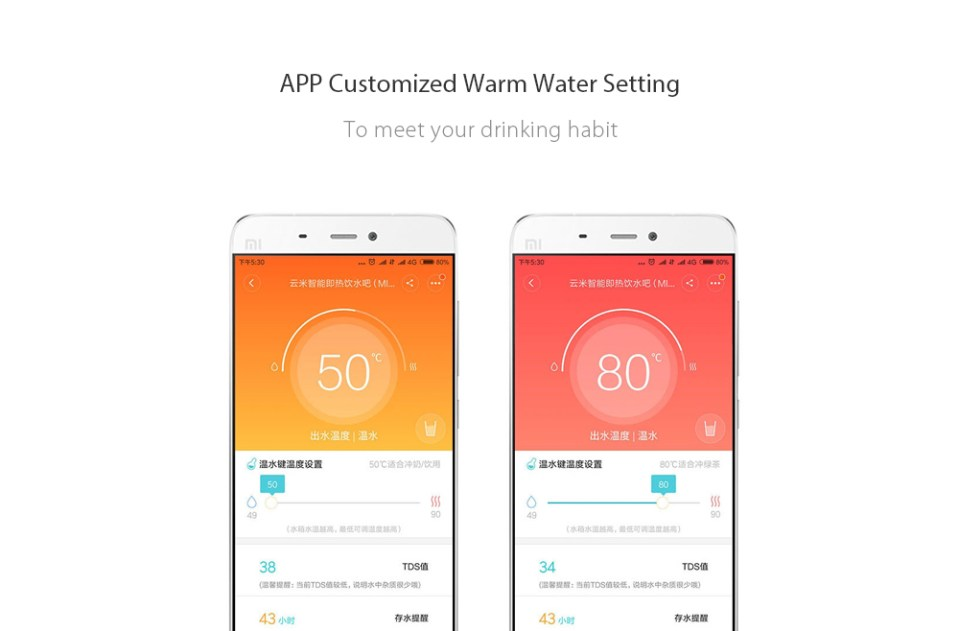 Xiaomi VIOMI 4L Smart Instant Hot Water Dispenser Portable Drinking Fountain APP Control Customized Temperature