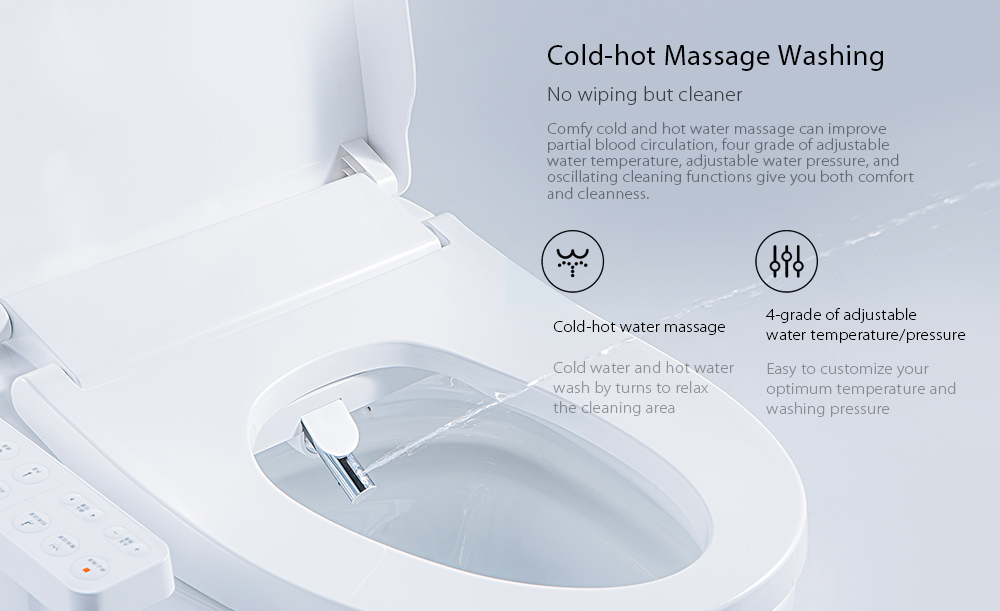 Xiaomi Smartmi Smart Toilet Seat Water Heated Filter Electronic Bidet Spray