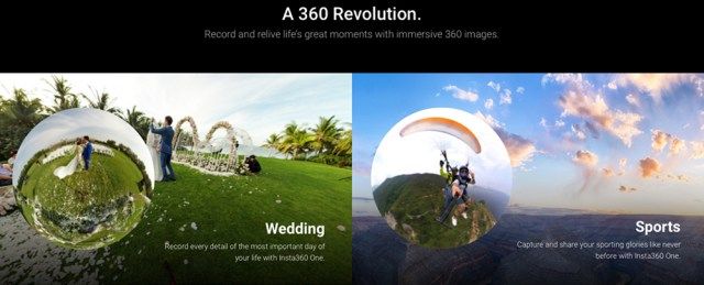 Insta360 ONE 4K 30fps Panoramic Camera for iPhone / iPad