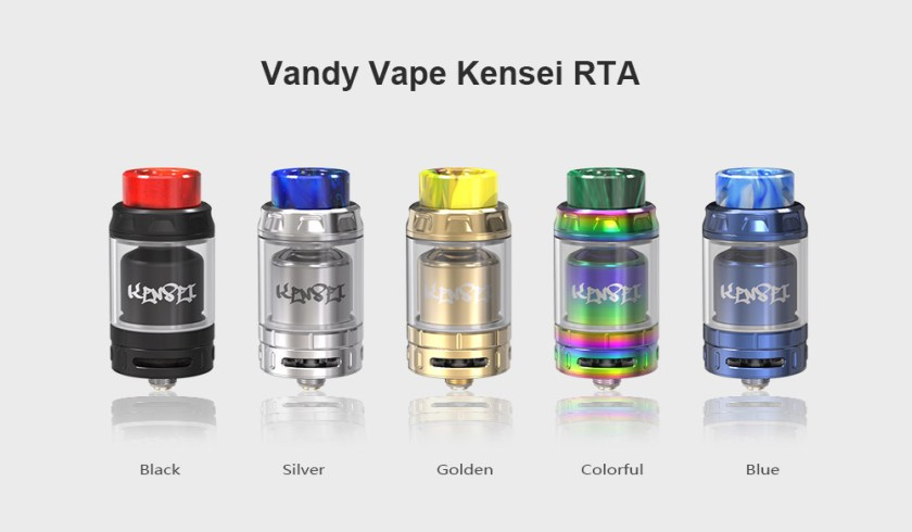 Vandy Vape Kensei RTA with Bottom Honeycomb Airflow / 2ml / 4ml for E Cigarette