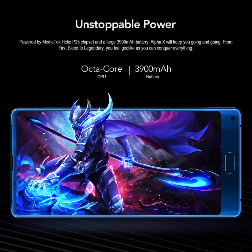 MAZE Alpha X 4G Phablet Android 7.0 6.0 inch MTK6757 Octa 2.5GHz 6GB RAM 64GB ROM Full Screen Front Touch Sensor