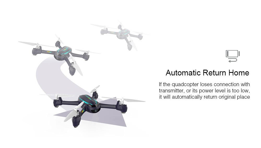 Hubsan H216A X4 DESIRE PRO RC Drone 1080P WiFi Camera / Altitude Hold / Waypoints / Headless Mode- Black