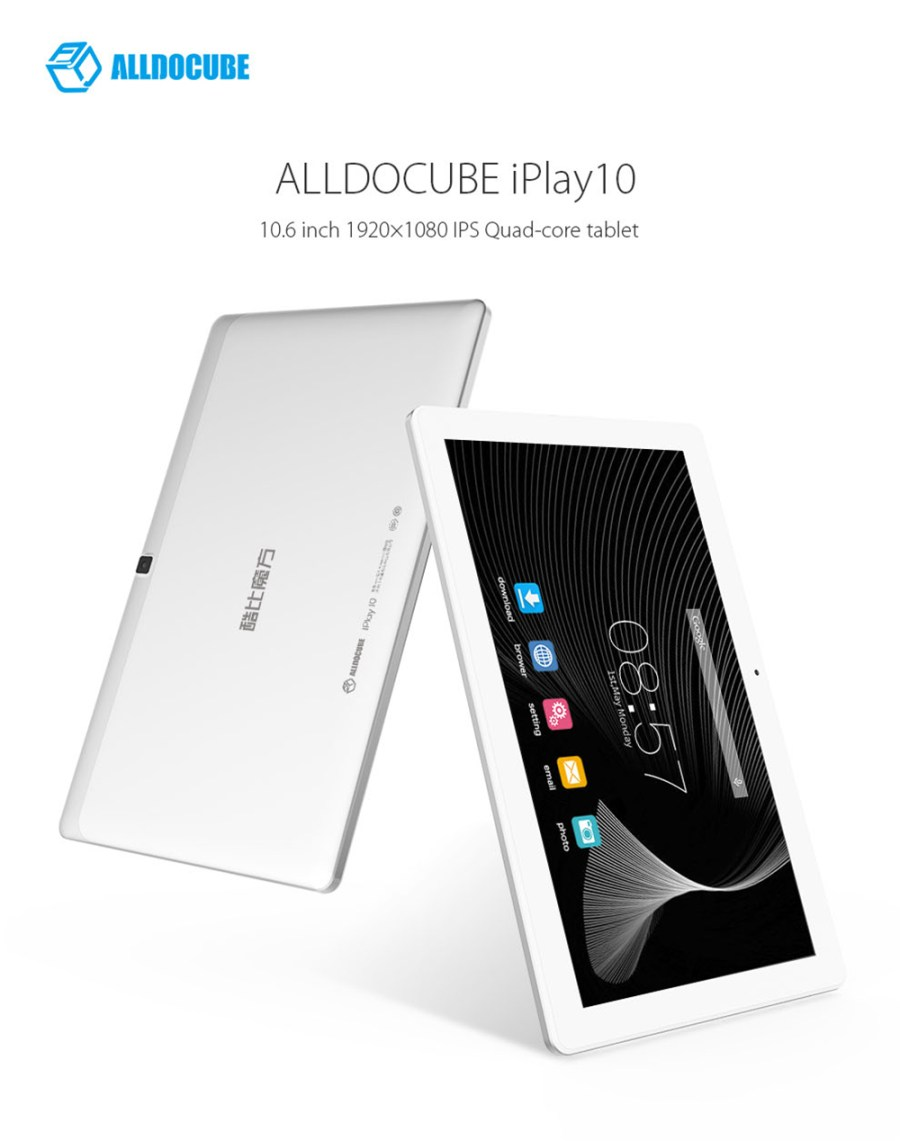 ALLDOCUBE iPlay 10 Tablet PC 10.6 inch Android 6.0 MTK8163 Quad Core 1.3GHz 2GB RAM 32GB ROM Dual WiFi HDMI OTG